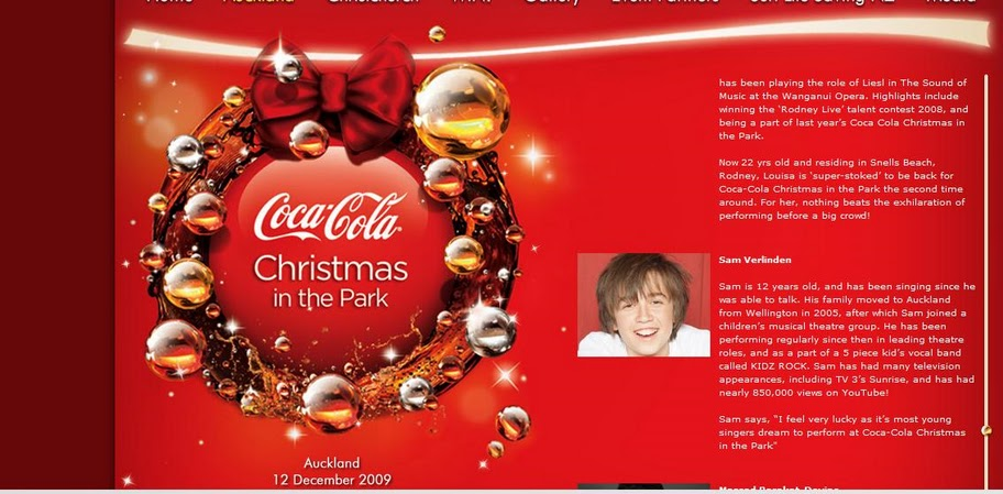 Christmas in the Park program