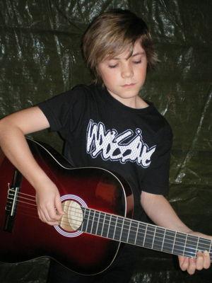 Jordan with guitar
