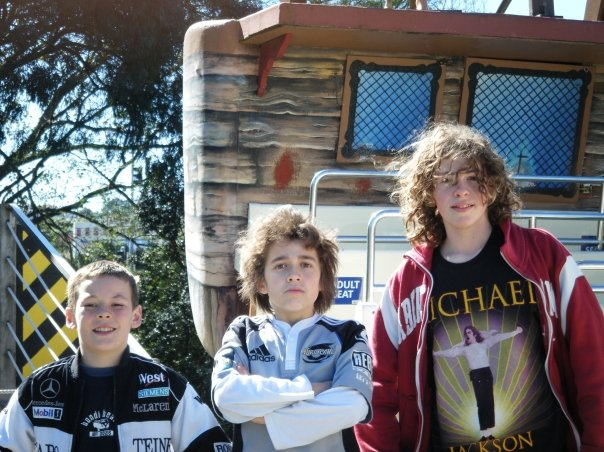 Sam and his two best friends Luke and Liam