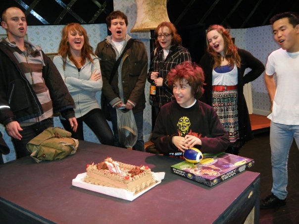 Sam celebrating his 12 birthday on set of Tommy