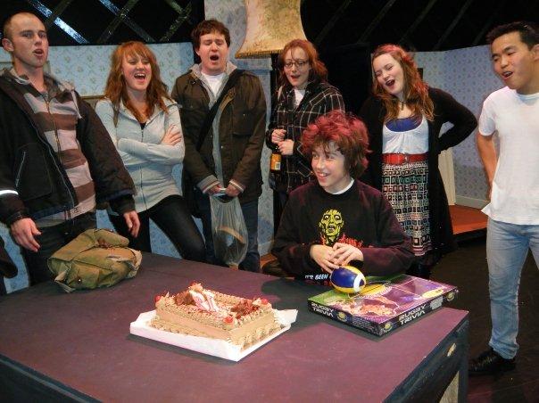 Sam celebrating his 12 birthday on set of Tommy