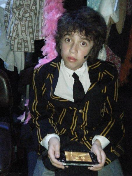 """Sam backstage on """"Tommy"""""""