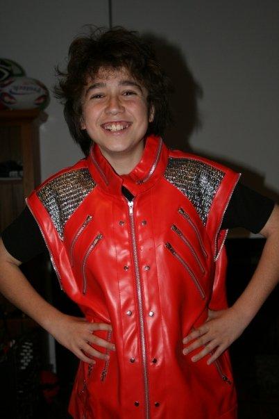 Sam in his MJ jacket