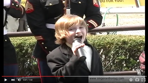 Anthony Gargiula Sings Anthem