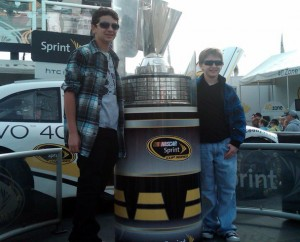 Anthony and his brother at Sprint Cup Race 2010
