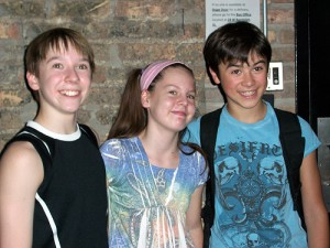 Billy (Tommy Batchelor), Debbie (Maria Connelly) and Michael (Keean Johnson)