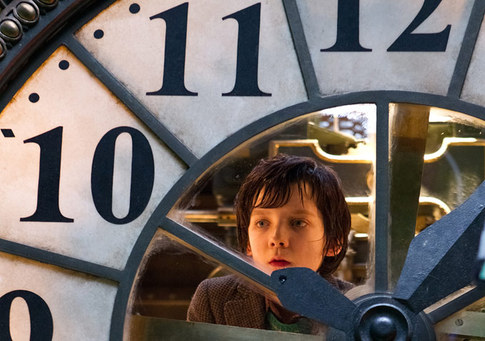 Asa Butterfield as Hugo Cabret