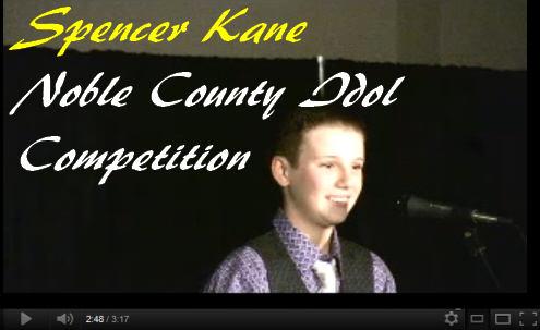 Spencer Kane Noble County Idol