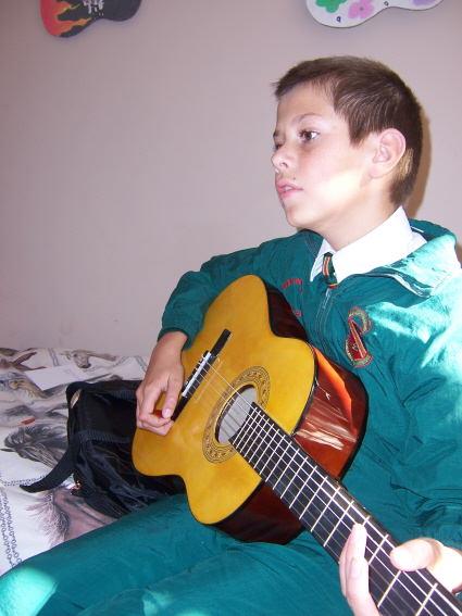 Jared gets his new Guitar 2011
