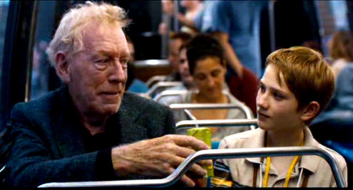 Max Von Sydow and Thomas Horn