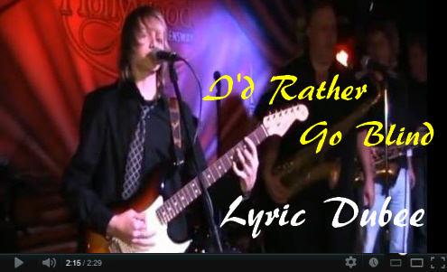 Lyric Dubee I'd Rather Go Blind Video