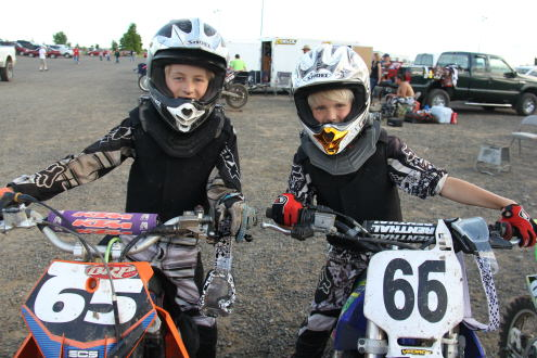 Carson and Jackson Lueders on BMX Bikes