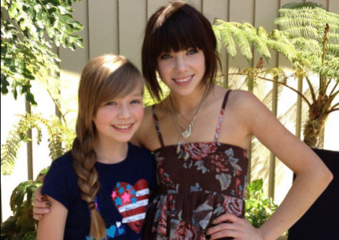 Connie Talbot with Carly Rae Jepson