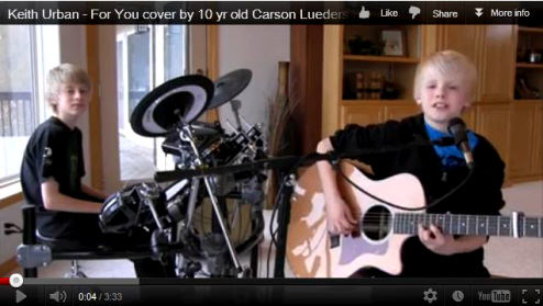 Carson and His Brother Perform Keith Urban Cover