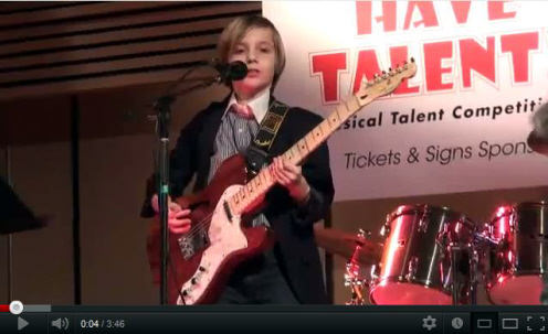 Beamer performs at Our kids have talent