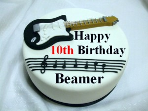 Beamer's Tenth Birthday Cake