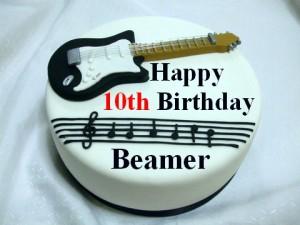 Beamer's Tenth Birthday Cake