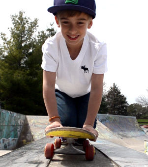 JohnnyO on his Skateboard