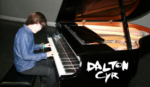 Dalton at piano