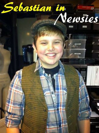 Sebastian in Newsies