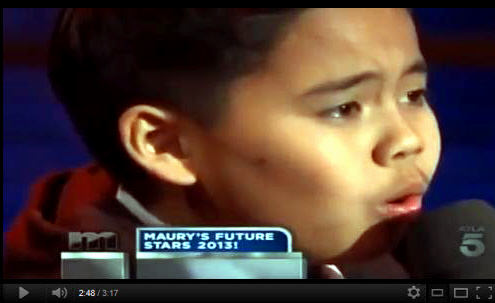 Sam Santiago Performs on Maury