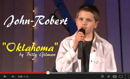 John Robert sings Oklahoma by Billy Gilman