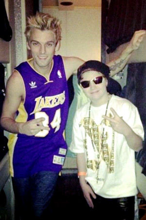 TJ and Aaron Carter