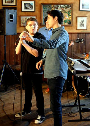 Sebastian on Set for Video