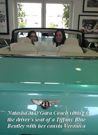 Girls in a new Bentley