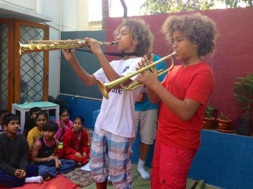 Performing to Lumbini Montessorri School in Hyderabad