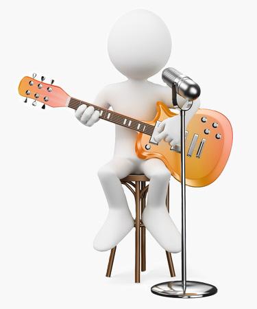 Guitarist 3D Guy