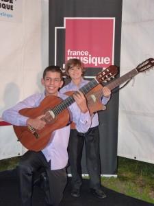 2011-10-12 Ils font l'ouverture d'un festival en direct sur une grande radio française