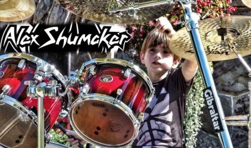 Alex Shumaker on stage