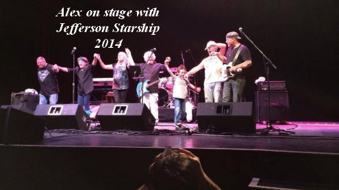 Alex on stage with Jefferson Starship 2014