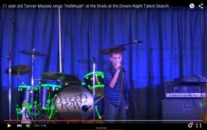 Tanner sings 'Hallelujah'